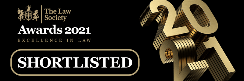The Law Society Awards - Excellence in Law 2021 - Shortlisted