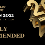 Law Society Awards - Excellence in International Services 2021 - highly commended